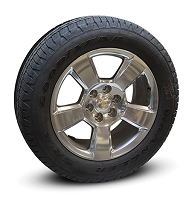 "Late Model GM Truck/SUV Silver 20"" Wheels and Tires"