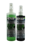 Air Filter Recharge Oil and Cleaner Green